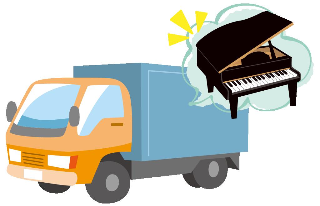 ピアノを運ぶ引越し業者