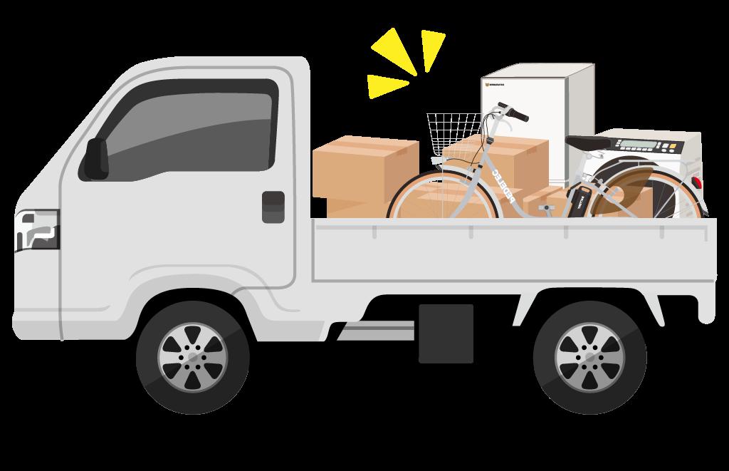 自転車をトラック輸送