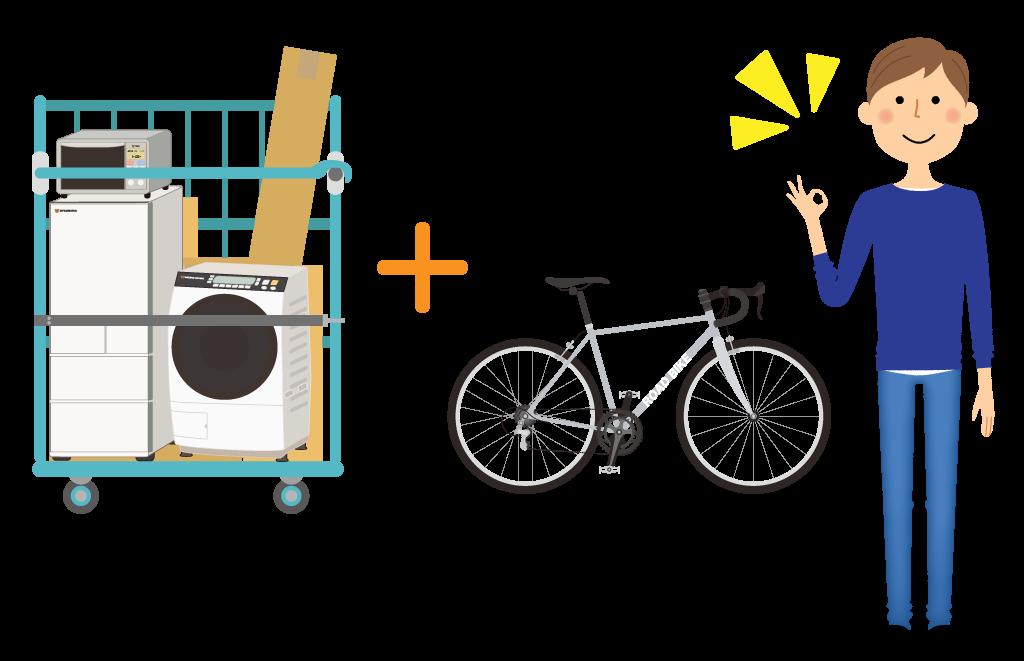 単身パックに自転車のみ追加輸送する