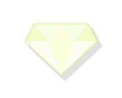 非常に薄い黄色のダイヤ