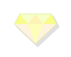 薄い黄色のダイヤ