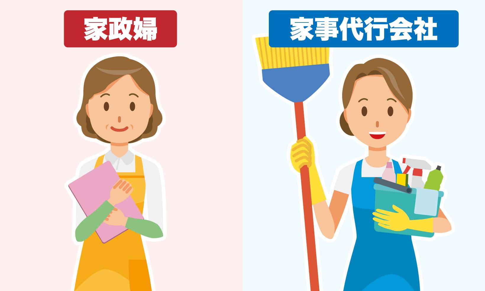 家政婦と家事代行会社スタッフ