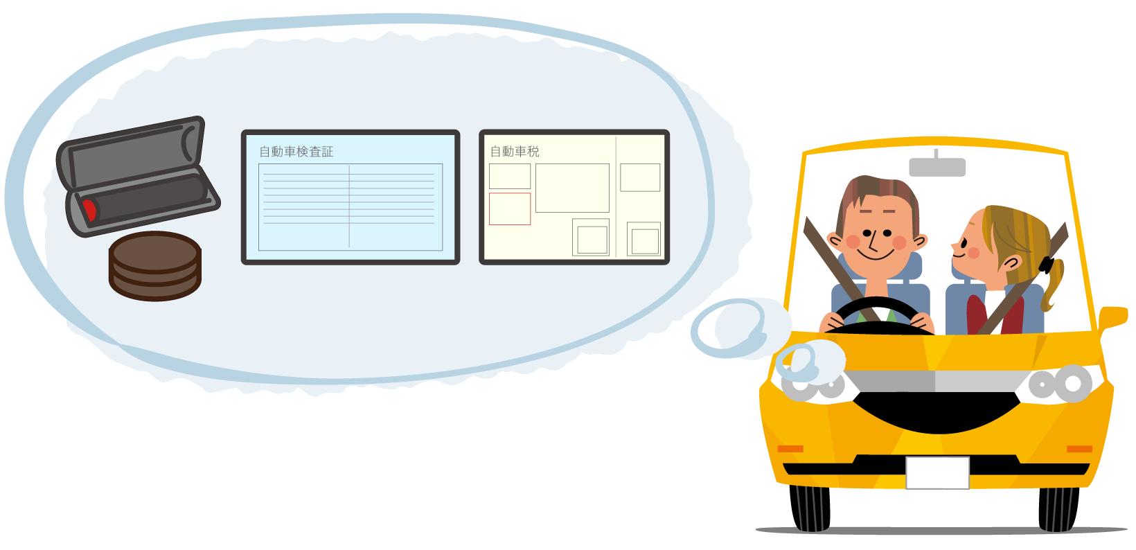 ユーザー車検では以下のものが必要。自動車検査証、認め印、自賠責保険証明書、自動車税納税証明書、記録簿・定期点検整備記録簿、自動車検査票・継続検査申請書・自動車重量税納付書