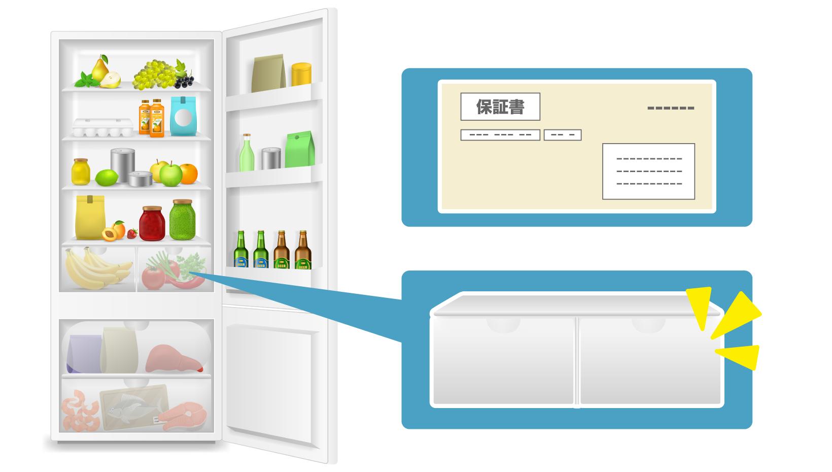 保証書や棚などの付属品は、冷蔵庫本体と一緒に出すことでより高価に買い取ってもらえる