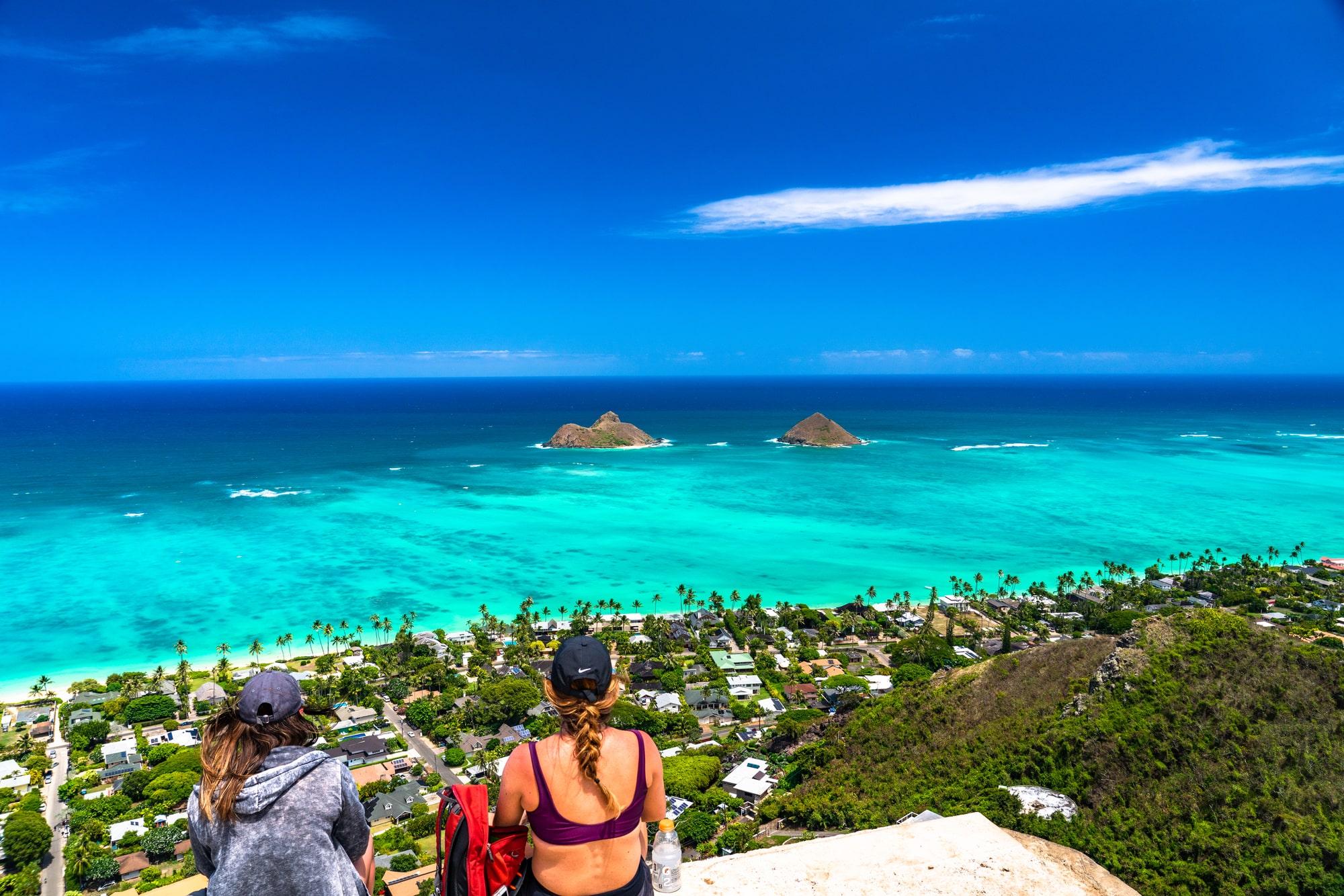 ハワイ ラニカイピルボックスの眺め