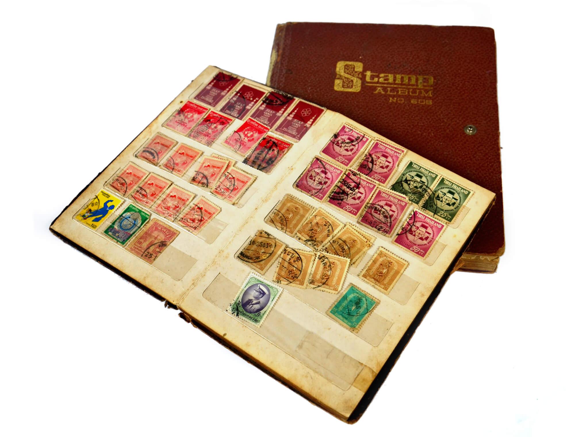 切手のアルバムコレクション