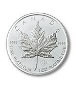 プラチナメイプルリーフコイン